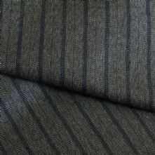 75% OFF  Mocca with Navy Pin Stripe Wool Suiting Fabric 150cm Wide
